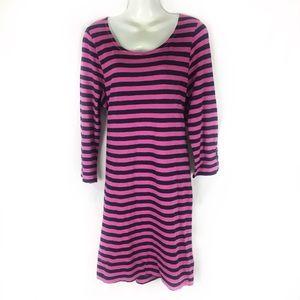HATLEY   nautical dress striped pink blue XL